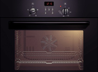 Built-in single 3D hot air oven HBN331S2B black