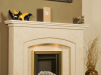 Micro Marble Fireplace