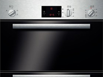 Classix Built-in double hot air oven HBM13B150B brushed steel