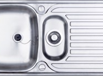 (EA09) Contract inset 1.5 bowl kitchen sink and drainer