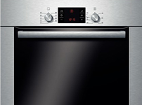 HBG53R550B brushed steel multi function oven