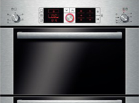 HBM56B551B brushed steel dounle multi function oven