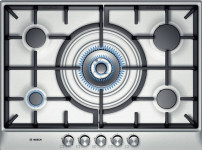 PCQ715B90E brushed steel 4kw wok style central burner