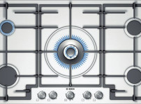 PCR915B91E brushed steel with wok style central burner 5kw