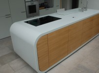 Thermoformed Seagrass corian