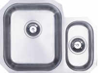 (UM0001) LH or RH classic radius cornered undermount 1.5 bowl kitchen sink