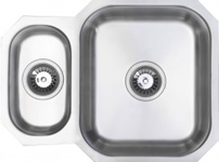 (UM0001) Reversible classic radius cornered undermount 1.5 bowl kitchen sink