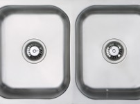 (UM0002) Classic radius cornered undermount double bowl kitchen sink