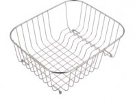 (UM0002) Classic radius cornered undermount double bowl kitchen sink Wire Basket
