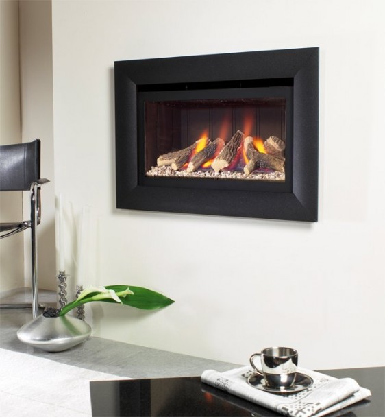 Flavel Jazz Balanced Flue Hole In The Wall Gas Fire Image