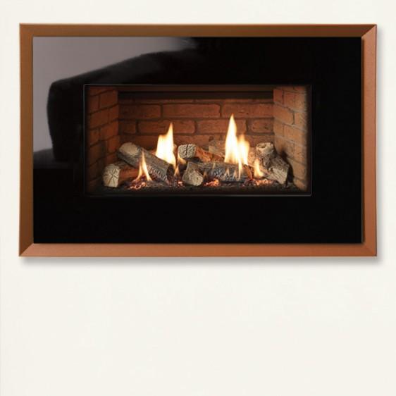 Gazco Riva2 670 Evoke Glass Balanced Flue Gas Fire Image