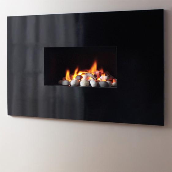 Legend Aura Prestige Black Hole-in-the-Wall Gas Fire Image